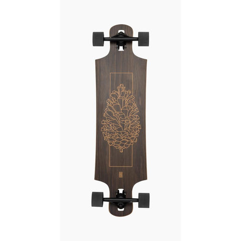 119CP-FRDHWNT, Landyachtz, Drop Hammer Walnut complete, Longboard Completes, Walnut, Wood, Bottom View