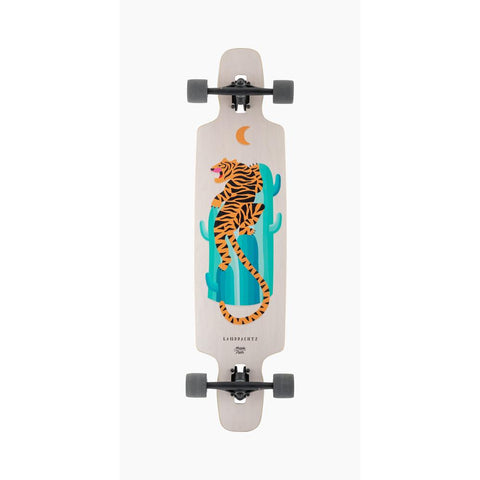 119CP-FRDC40DTG,119CP-FRDC37DTG, Drop Carve Desert Tiger Complete, Longboard Completes, White, Multi, Bottom View