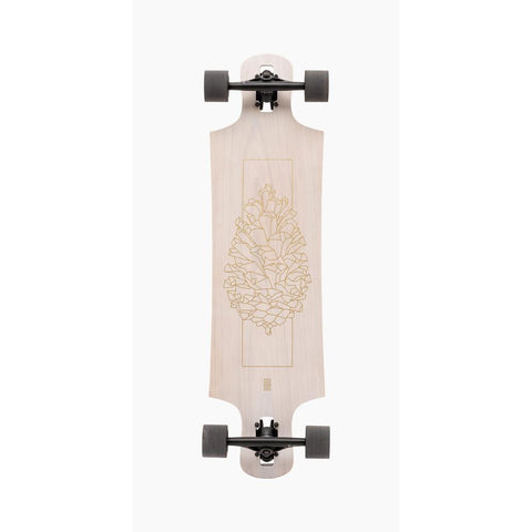 "Oak, Landyachtz, Longboard Deck, Drop Hammer Deck, 36.5"", Bottom View"