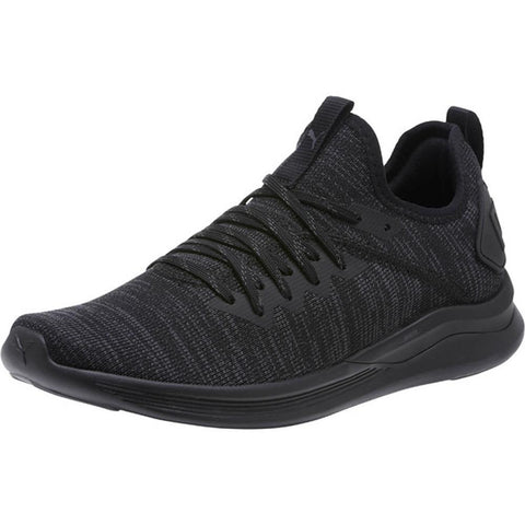 Puma, Ignite Flash EvoKnit Shoes, Womens Trainers, Womens Shoes, Slip on, Black, 190511-05