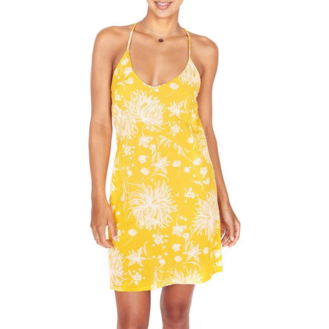 Obey, Annette slip dress, womens dresses, summer dresses, yellow, mustard, 401500283.mus, front view