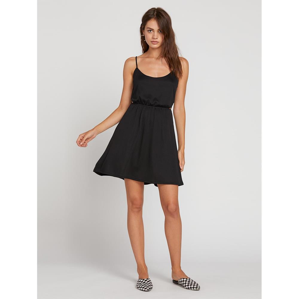 Volcom, Le Fresh Dress, Womens Sun dress, Cutout, Black, B1321905-Blk, Front View