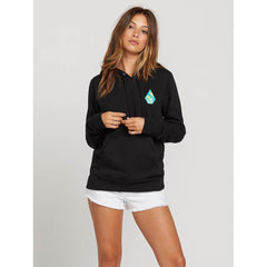 Volcom, Stone Hoodie, Womens pullover hoodie, Black, B3121900-Blk, Front View