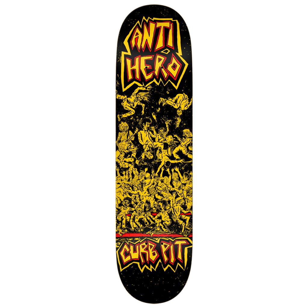 Anti Hero, Team Curb Pit, Skate Deck, Skateboarding Deck, Black Yellow, AH-1002056808