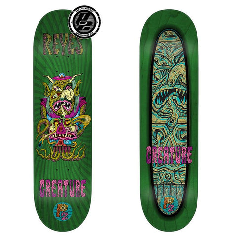 Creature, Reyes Weirdos Deck, Skate Decks, Skateboarding Deck, Green, 8.0, 1114875
