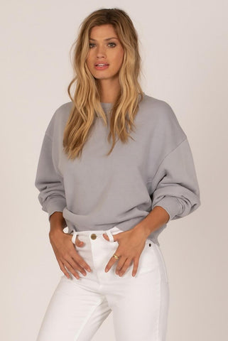 Amuse Society Misty Morning Long Sleeve Fleece Top