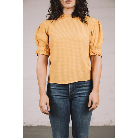 Amuse Society, A508MPAL-GLD, Gold, Womens Fasion Tops, Fall 2019, Front View