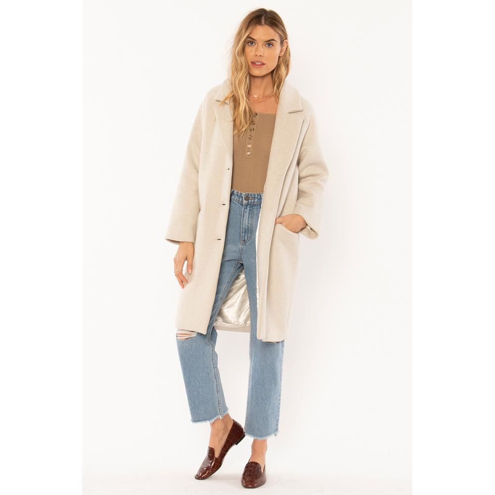 a704msie-oat Amuse Society Siena Wool Coat oatmeal front
