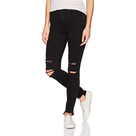 Silver Jeans, Robson High Rise Jeggins, Black, Womens Skinny Jeans, Womens Jeans, L64024SBK511 Front view