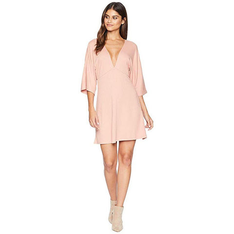 Amuse, Belleza Dress, Womens Dresses, Casual Dress, Pink, AD05JBEL, Front View