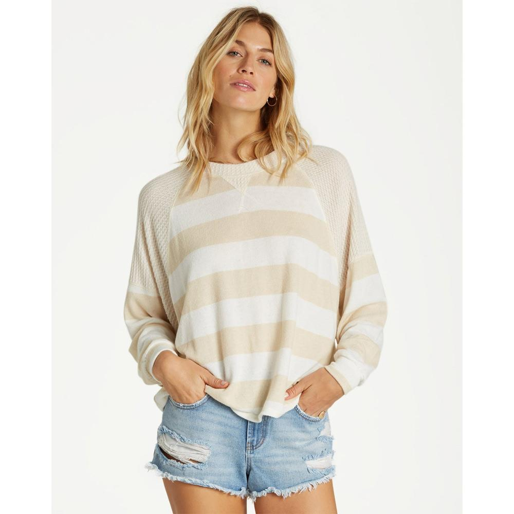 J917SBHE-ANW, Head Start, Billabong, Antique White, Sweater, Stripes, Fall 2019, Front View