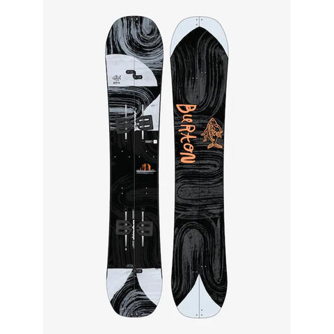 18016103000, Burton, Flight Attendant Splitboard, Mens All mountain Snowboards, Winter 2020, Grey, White, Black, Splitboard