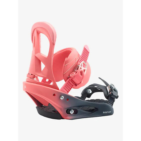 Burton, 10548106510, Pink Fade, Stiletto Re:Flex, Womens Snowboard bindings, winter 2020, pink, black,