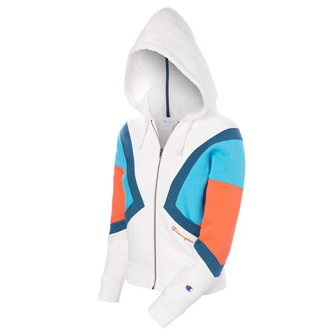 Champion Reverse Weave Color Block Full Zip Hoodie
