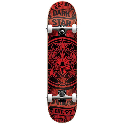 10512257, Darkstar, Civil FP Complete, Complete Skateboard, Red, Bottom View