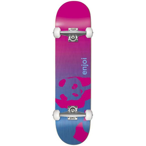 10517653Y, Enjoi, Faded Panda Soft Top Complete Skateboard, Pink/Blue, Bottom View