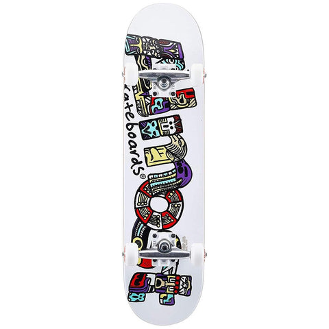 10523193Y, Almost, Aztecian Youth Complete, Skateboard Complete, White, Bottom View