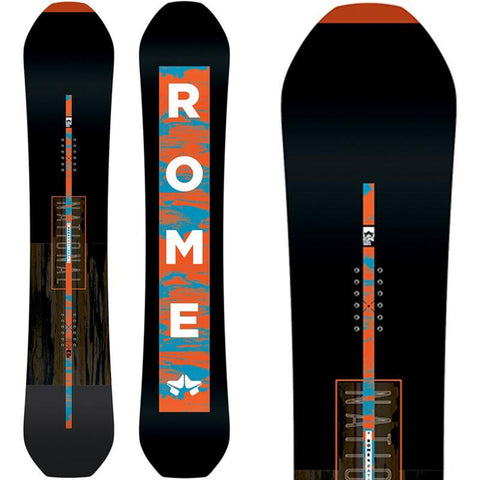 19sb3004-blk Rome SDS National Snowboard black/orange top n bot