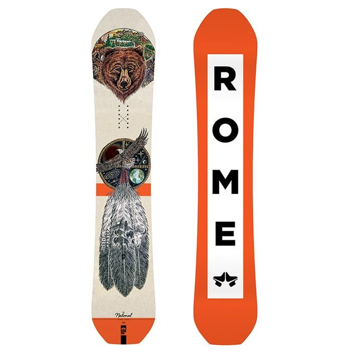 19sb3004-wht/org Rome National Bjorn Snowboard white/orange top n bot