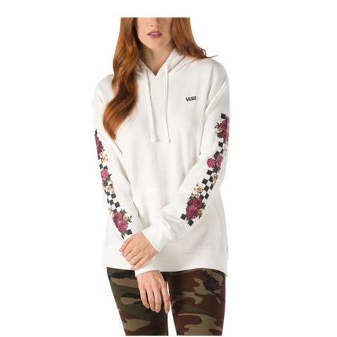 VN0a47TG-FS8, White, Marshmellow, Vans, Brunching Check Hoodie, Womens Pullover Hoodies, Summer 2019