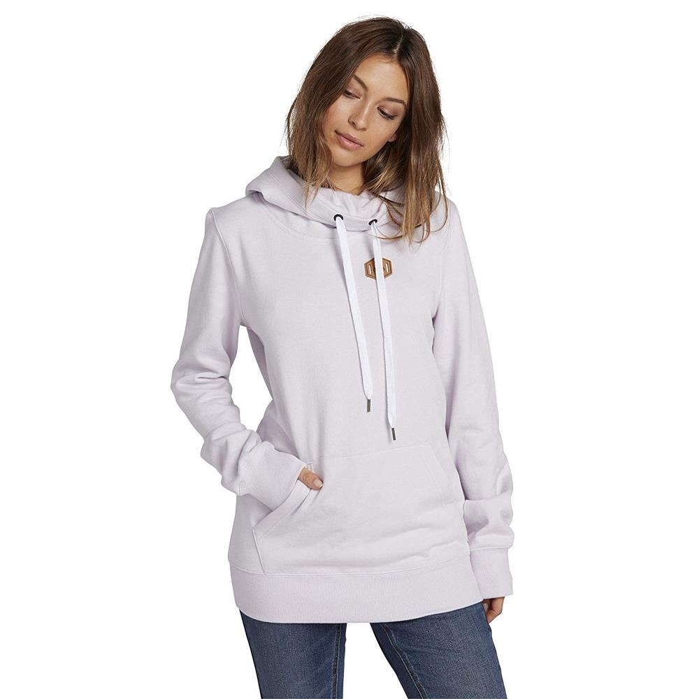 H2452007-VIC, Saloon Fleece, Womens Pullover Hoodies, Voilet Ice, Light purple, Front View