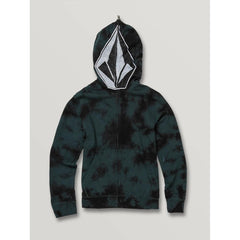 C4831932-EVR, Cool Stone Full Zip Hoodie, Boys 8-12 years, Evergreen, Green, Front View