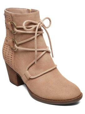 ARJB700615, Blush, Roxy, Womens, Heeled, Boot, Lace Up, Laser detail, Stacked Heel