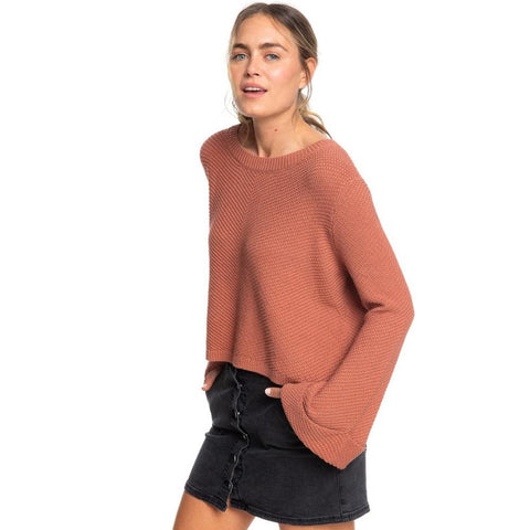 ERJSW03343-MMS0, CEDAR WOOD, ORANGE, SORRENTO SHADES FLARED SLEEVE SWEATER, ROXY, WOMENS SWEATER, FALL 2019