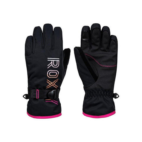 Roxy, Freshfield Snowboard gloves, KVJ0, Black, Girls outerwear 7-14 years
