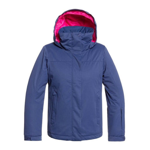 ERGTJ03083, Girls Jetty Snow Jacket, BTE0, Medieval Blue, Blue, Girls outerwear 7-14 years old, Front view