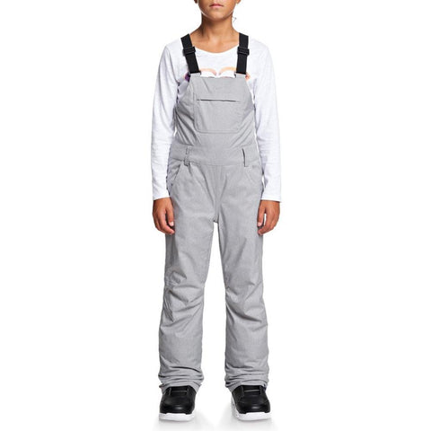 ERGTP03019, Roxy, Non Stop Bib Pants, Girls outerwear 7-14 years old, Grey, Heather Grey, SJEH, Front view