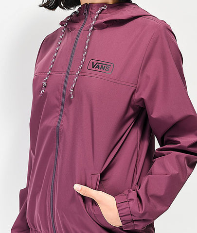 vn0a47u37d5 Vans Kastle III Windbreaker prune front view