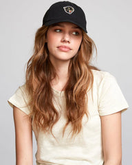RVCA, WAHWVRPH-BLK, Black, Panther Dad Hat, Womens Hats, Adjustable Back, Fall 2019