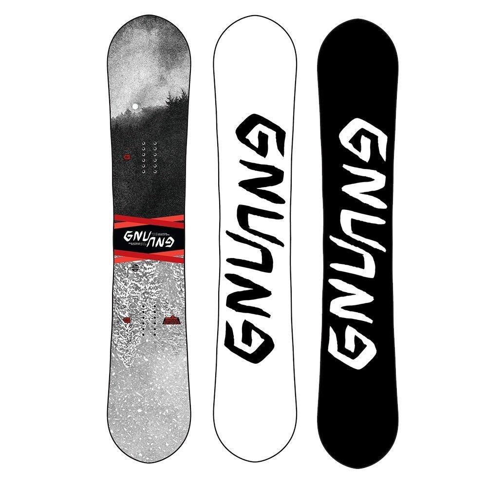 GNU, ASYM T2B C2E, Mens Freestyle Snowboards, Grey, Black, 19sn006