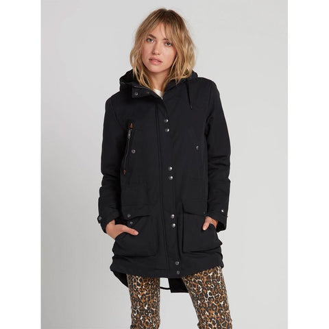 B1531950-BLK, Black, Walk on By 5K Parka, Volcom, Womens outerwear, Womens Winter Jackets, Winter 2020