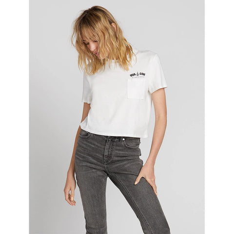 B3531902-SWH, STAR WHITE, MADE FROM STOKE TEE, VOLCOM, WOMENS T-SHIRTS, CROPPED TEE, FALL 2019