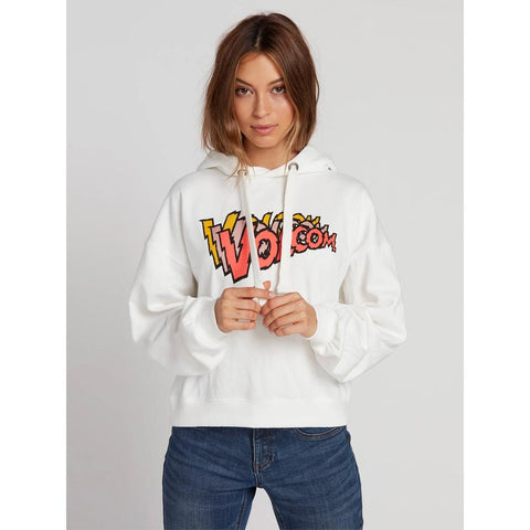 B3131902-SWH, Star White, White, Knew Wave Hoodie, Volcom, Womens Pullover Hoodies, Fall 2019