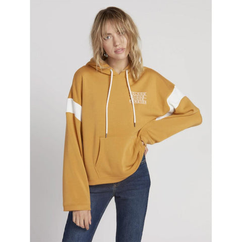 B3131908-DIJ, Dijon, Mustard, Yellow, Rock The Blox Hoodie, Volcom, Womens Pullover Hoodies, Fall 2019