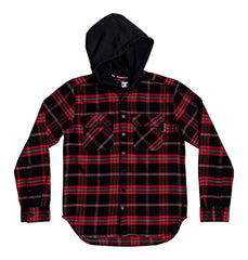 DC Runnels Long Sleeve Hooded Flannel Shirt