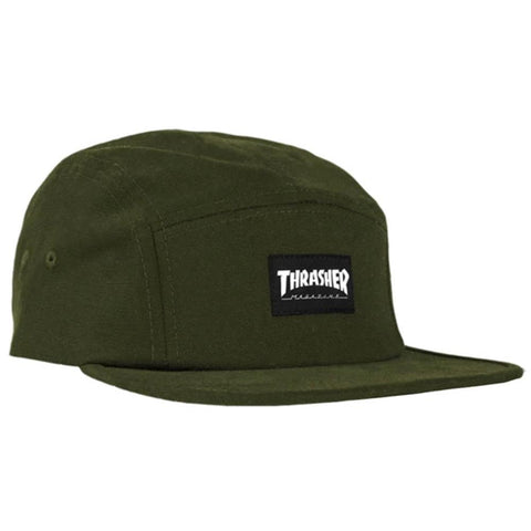 Thrasher, THR-3131313, Army, Thrasher 5 panel hat, Mens Hats, Adjustable Back, Fall 2019