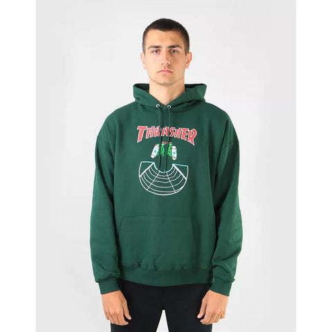 Thrasher, THR-314280, Forest, Doubles Hood, Mens Pullover Hoodies, Green, Fall 2019