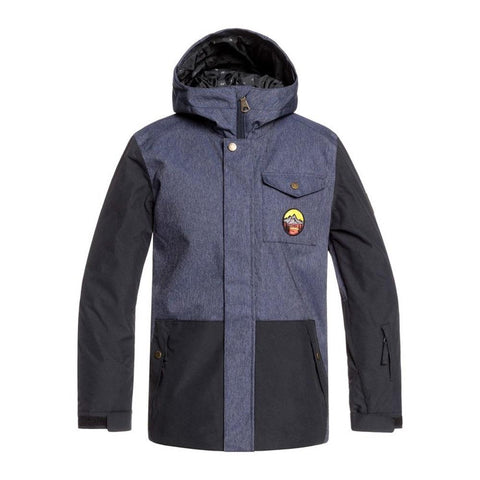 EQBTJ03091-KRB0, Denim Blue, Quiksilver, Youth Ridge Snow Jacket, Youth Outerwear, Front View