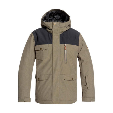 EQBTJ03093-CRE0, Grape Leaf, Raft Snow Jacket, Quiksilver, Youth Outerwear, Snowboard Jacket, Front View