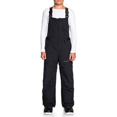 EQBTP03025-KVJ0, Black, Utility Snow Bib Pants, Quiksilver, Youth Outerwear, Youth Snowpants, Front View
