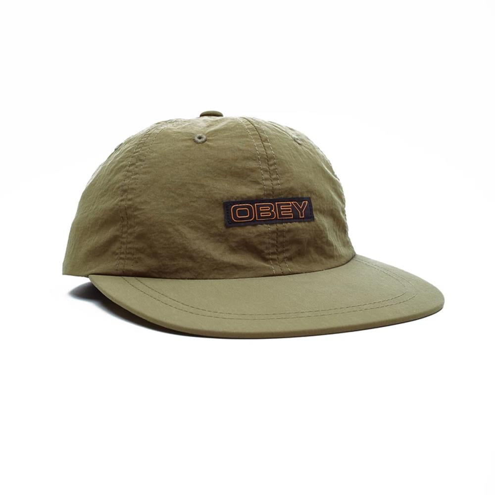 100580207.ARM, ARMY, GREEN, OBEY, PANNOTIA 6 PANEL STRAPBACK, MENS HATS, FALL 2019