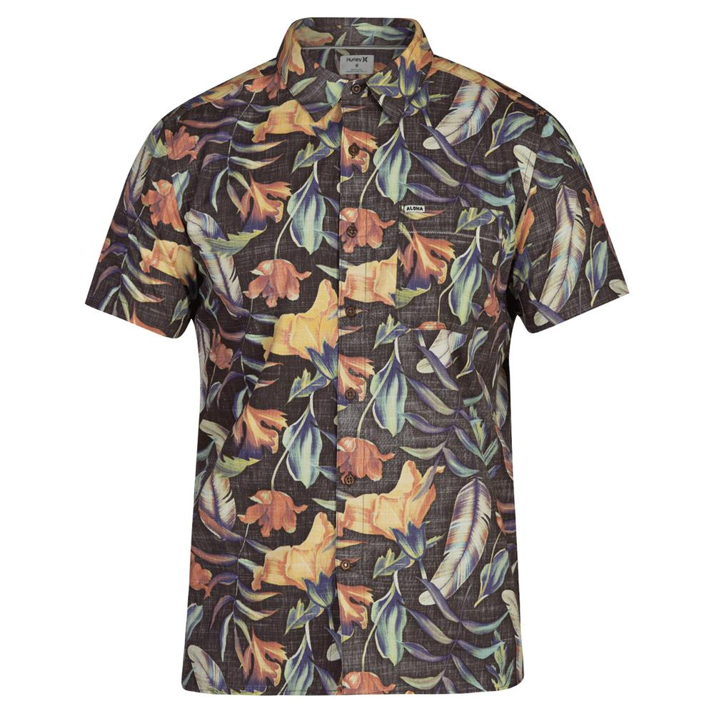 bq3181-010 Hurley Fat Cap Button Up Short Sleeve Shirt multi front