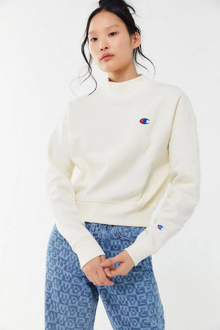 Champion Reverse Weave Mock Neck Crop Crew