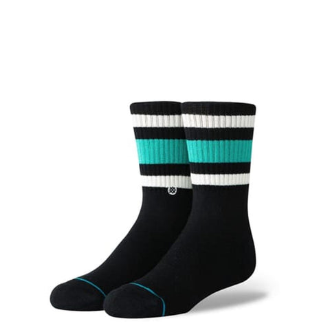 B526A18BOY.GRN, GREEN, BOYS BOYD 4, STANCE SOCKS, KIDS SOCKS, CREW HEIGHT