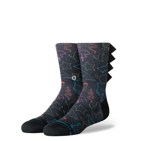 K526C19YAS.BLK, BLACK, YOU ARE SILLY, STANCE SOCKS, KIDS CREW SOCKS