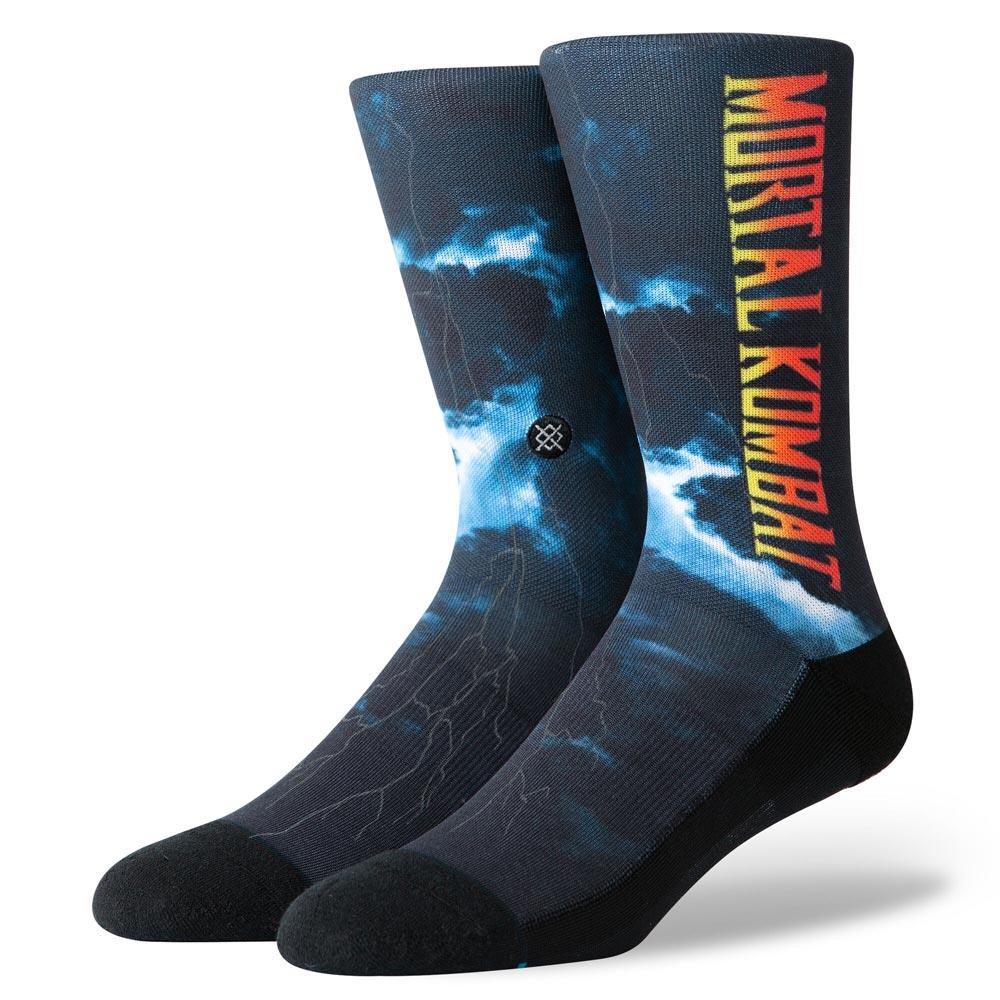 M545C19MOR.BLK, BLACK, MORTAL KOMBAT II, STANCE SOCKS, MENS CREW SOCKS, FALL 2019